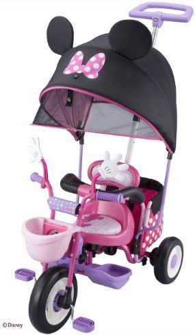 【送料無料!】アイデス(ides) 幼児用三輪車 カーゴ サンシェード ミニーマウス 三輪車