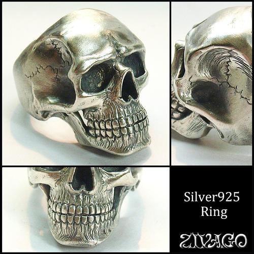 スカルリング シルバー 925 skull ring 指輪 silver ZIVAGO ジヴァゴ zw-024