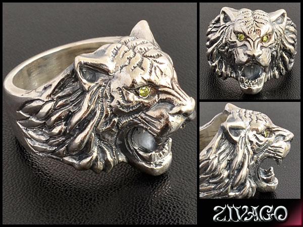 虎 トラ リング 指輪 シルバー silver 925 イエローダイヤ tiger ring zivago ジヴァゴ zw-029