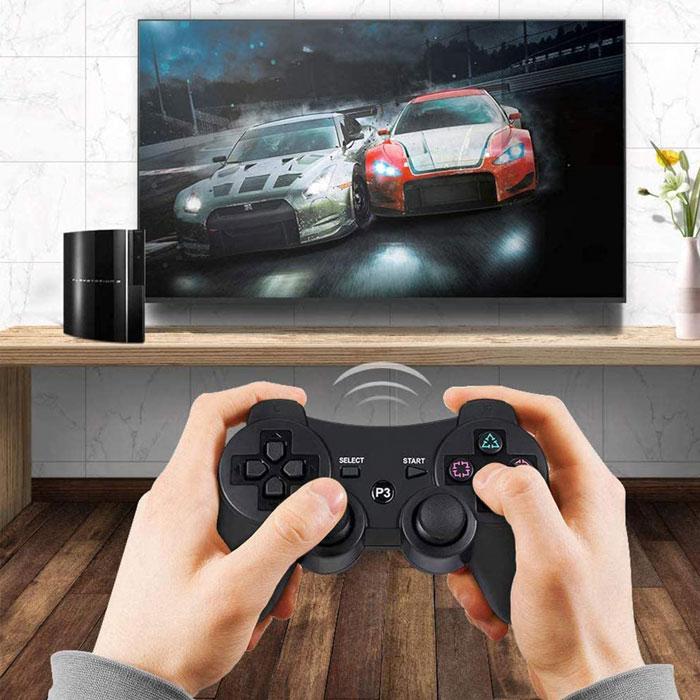 PS3 ショッピング ワイヤレスコントローラー 振動機能 Bluetooth接続 送料無料 好評受付中 高耐久ボタン PS3周辺機器 コントローラー ワイヤレス振動機能 人間工学