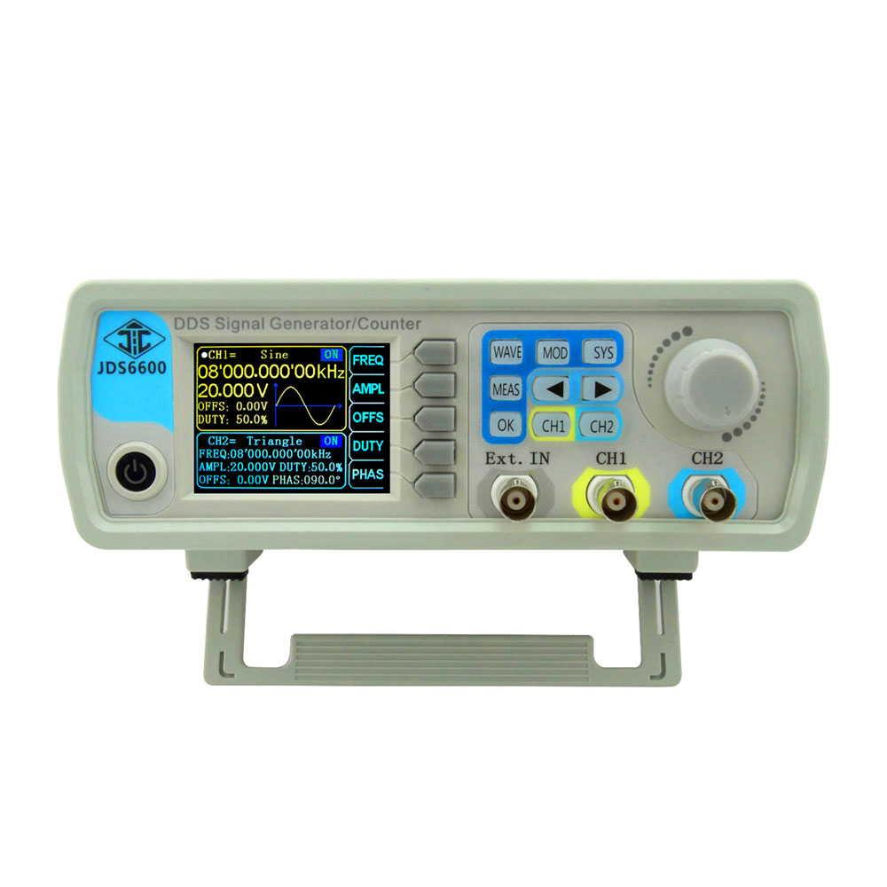 60MHz DDS ファンクションジェネレータ デジタル 制御 デュアルチャンネル 信号発生器 周波数計 正弦波形
