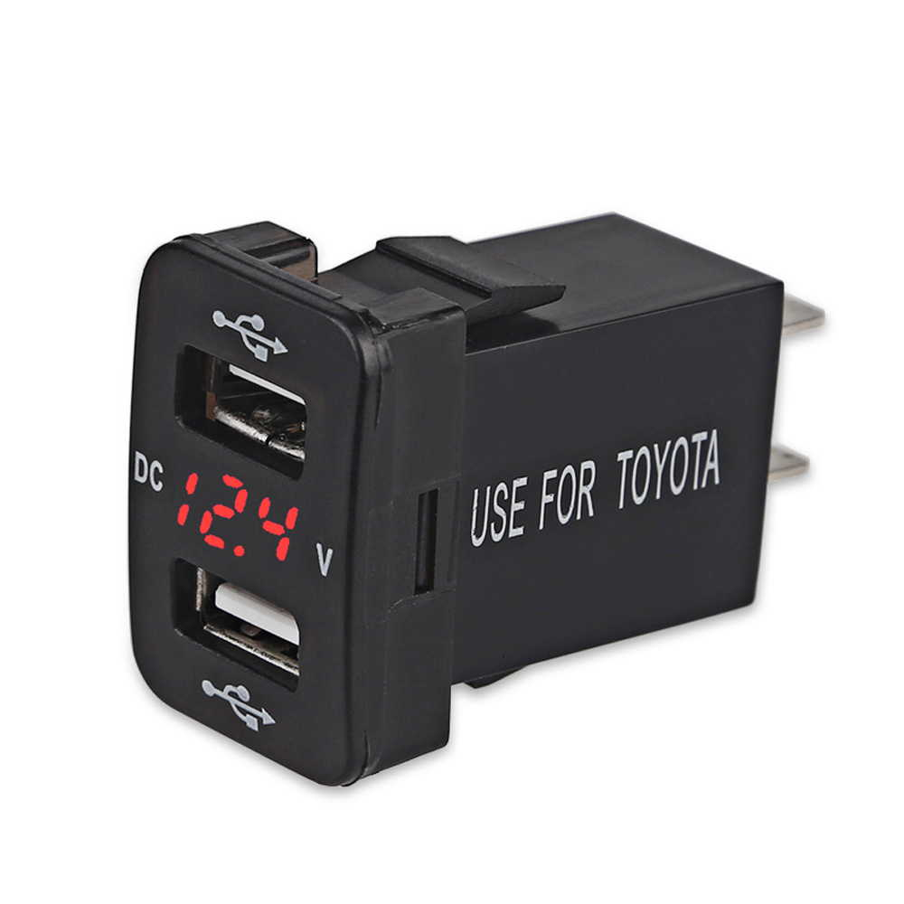 12-30V 4.2A トヨタ デュアルUSB シガーソケット USB スマホ 新入荷 流行 携帯 タブレット 防水LED 充電器 充電 電圧計 オートバイ トラック 車 売れ筋ランキング 電源アダプタ