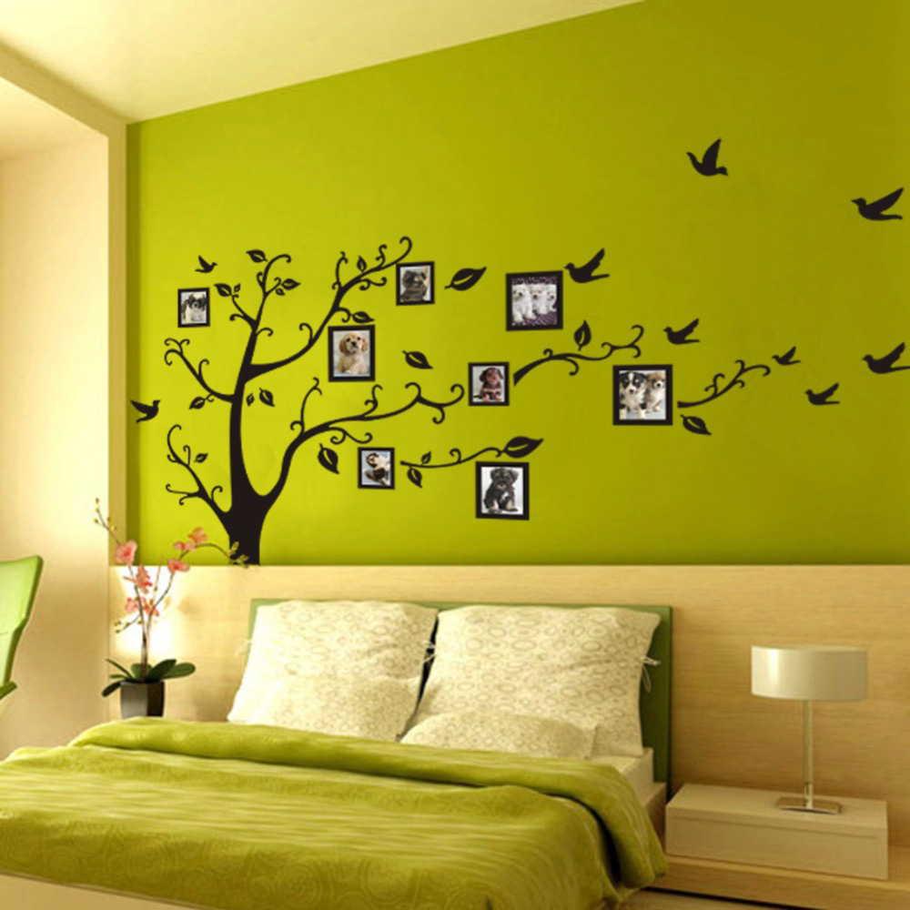 舗 0 250cm 3d フォトツリー 壁 アートデカール ステッカー ホームインテリア 壁紙 装飾 フラワーウォール