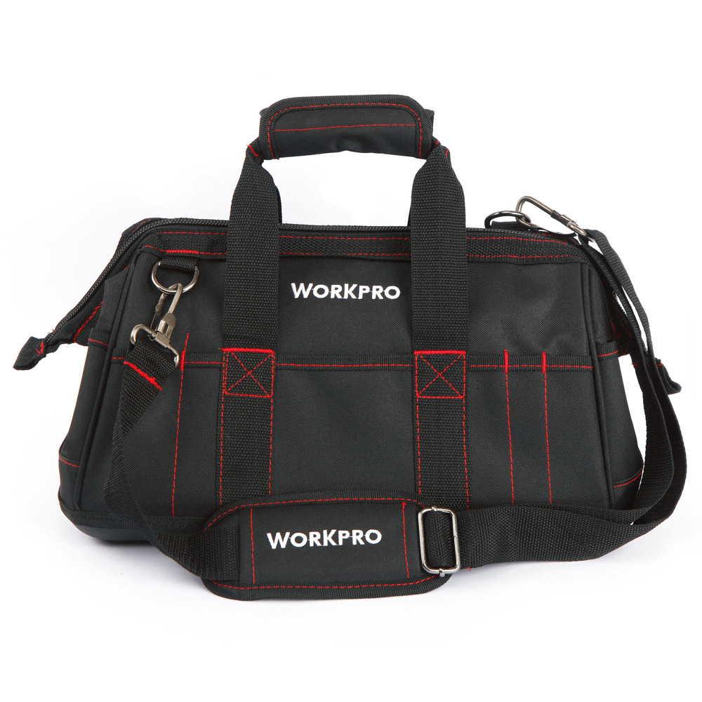 WORKPRO 16インチ 41センチ ツールバッグ 600D 工具入れ 工具差し 道具箱 工具箱 修理袋 並行輸入品