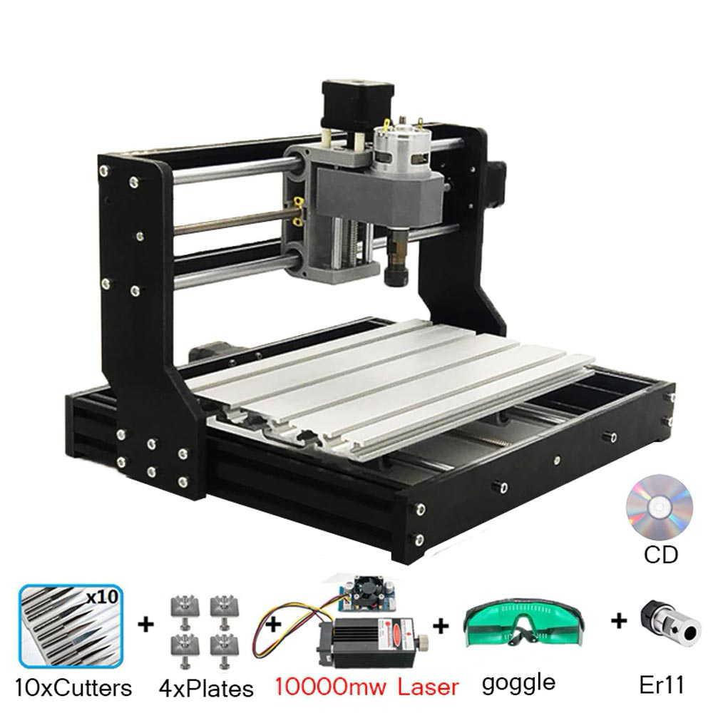 CNC 3018プロ 10wレーザー彫刻機 木製 CNC ルーターマシン GRBL ER11 趣味 DIY 彫刻機 PCB PVC