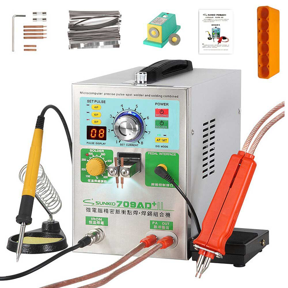 zmart SUNKKO 709AD+ バッテリー スポット 溶接機 3.2KW 自動 パルス 高出力 スポット 溶接ペン 付き