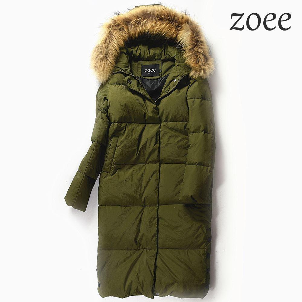 ダウンコート コート レディース 大きいサイズ ロング ショート ラクーンファー ダウンジャケット 冬 暖かい ファーコート 毛皮 アウター かわいい おしゃれ リアルファー カーキ S/M/L/2L e303