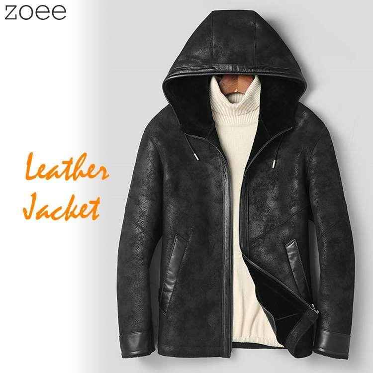 ジャケット メンズ 秋冬 アウター フード付き ライダースジャケット ブラック L/2L f4a11