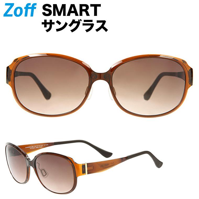 オーバル型サングラス|Zoff SMART(ゾフ・スマート) Regular SUNGLASSES 紫外線対策 UV対策 めがね おしゃれ レディース メンズ【ZJ181G04_43A1 ZJ181G04-43A1 ブラウン】
