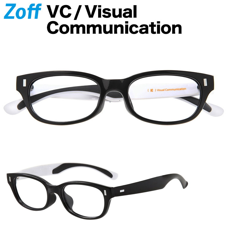 ウェリントン型めがね|VC / Visual Communication|Zoff ゾフ 度付きメガネ 度入りめがね ダテメガネ メンズ おしゃれ zoff_dtk【ZN191015_14E2 ZN191015-14E2 ブラック】【53□19-146】