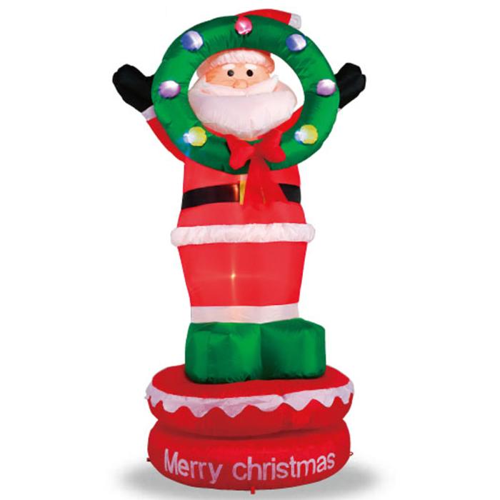 【ムービングエアーディスプレイ サンタリース】 クリスマス Christmas エアーブロー エアーバルーン サンタクロース クリスマスリース LED 販促 イベント 冬 風船 アイテム ディスプレイ