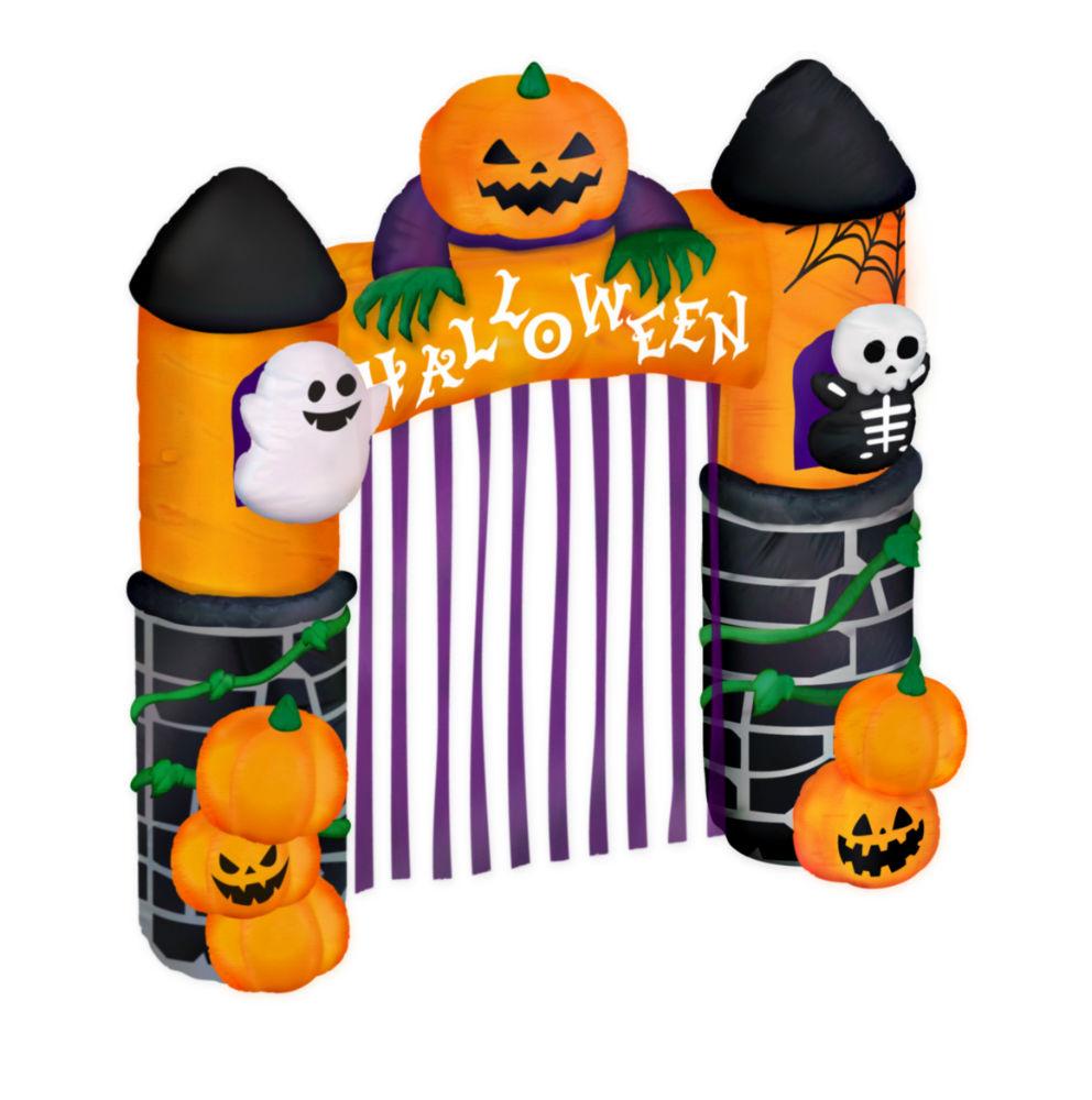 【エアーディスプレイアーチハロウィンゲート】エアーブロー エアーバルーン かぼちゃ ドクロ ゴースト 装飾 LED 飾り イベント 店舗