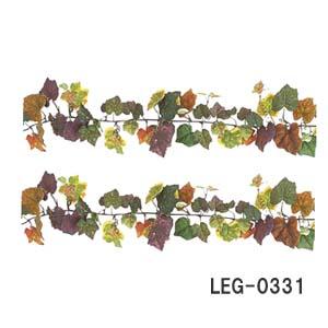 まとめ買い商品【造花 秋装飾】180cmつた オータムグレープリーフガーランド LEG0331【取寄商品】リーフ3~13cm ワイヤー入*