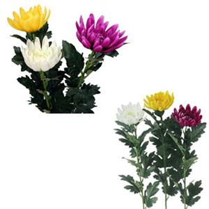 【造花】高級マム(L)アスカ (全長約63cm 花径約8cm)A-36096*