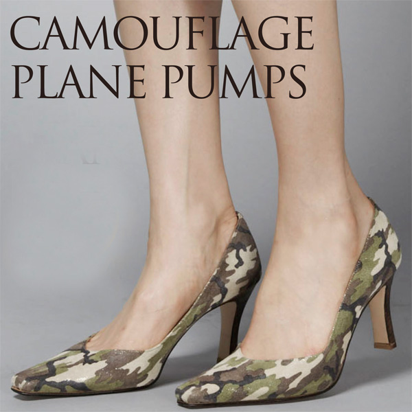 7c15a8cda5f4d 8 cm on high heel pointy toe Camo with Camo pumps PUMPS plain / manual size  ...