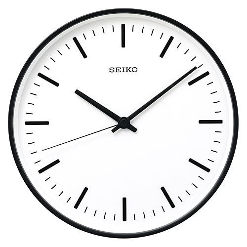 SEIKO セイコー STANDARD analog clock Sサイズ スタンダードアナログクロック K色 黒塗装 時計 掛け時計 ブラック