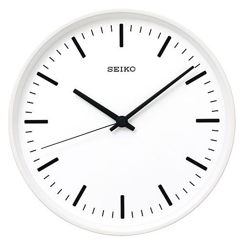 SEIKO セイコー STANDARD analog clock Sサイズ スタンダードアナログクロック W色 白塗装 時計 掛け時計 ブラック