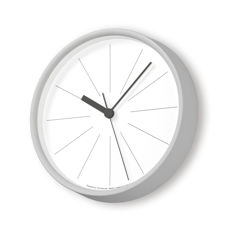 Lemnos ラインの時計 グレー YK18-09 GY [電波時計]掛け時計 時計 ギフト 結婚祝い 新築祝い レムノス