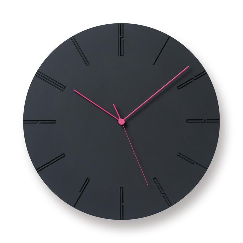 Lemnos CARVED ll ブラック NTL13-10BK 掛け時計 時計 ギフト 結婚祝い 新築祝い レムノス