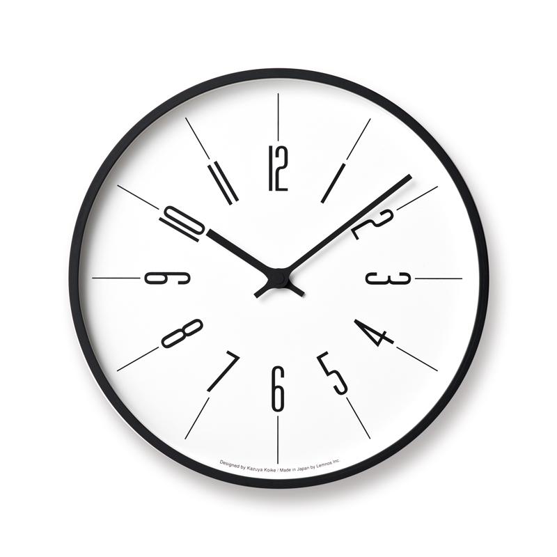 Lemnos 時計台の時計電波時計 Arabic φ305 KK17-13 A 掛け時計 時計 ギフト 新築祝い レムノス 小池和也