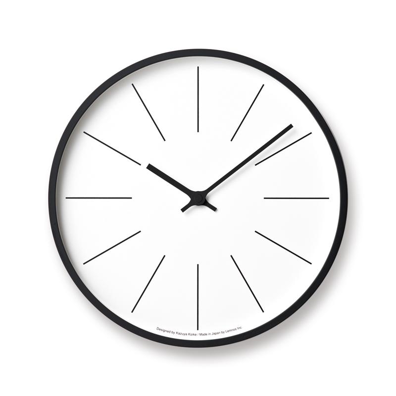 Lemnos 時計台の時計電波時計 Line φ305 KK17-13 C 掛け時計 時計 ギフト 新築祝い レムノス 小池和也
