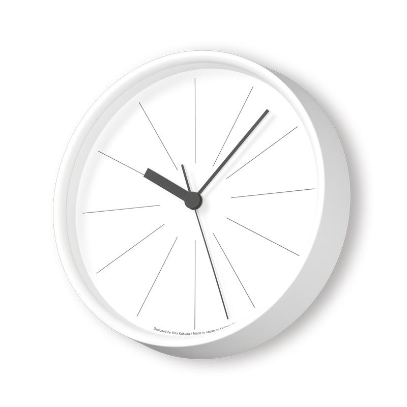 Lemnos ラインの時計 ホワイト YK18-09 WH 電波時計掛け時計 時計 ギフト 結婚祝い 新築祝い レムノス