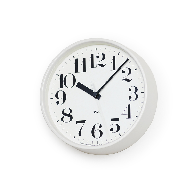 Lemnos RIKI STEEL CLOCK / ホワイト (WR08-25 WH)Arabic[電波時計]掛け時計 時計 ギフト 新築祝い 渡辺力 レムノス