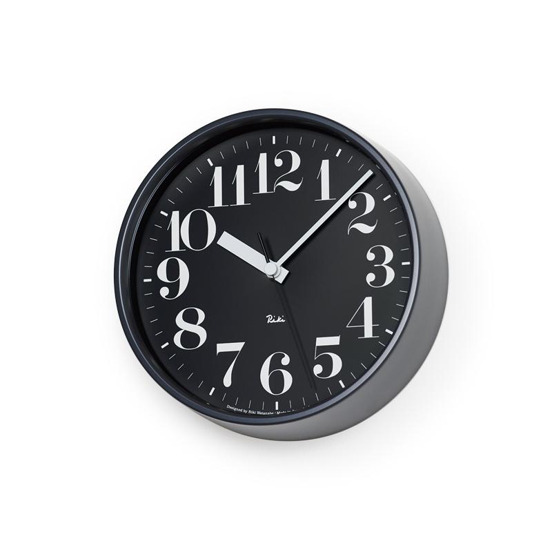 【最大2,000円OFFクーポン】Lemnos RIKI STEEL CLOCK / ブラック (WR08-25 BK)Arabic[電波時計]掛け時計 時計 ギフト 新築祝い 渡辺力 レムノス