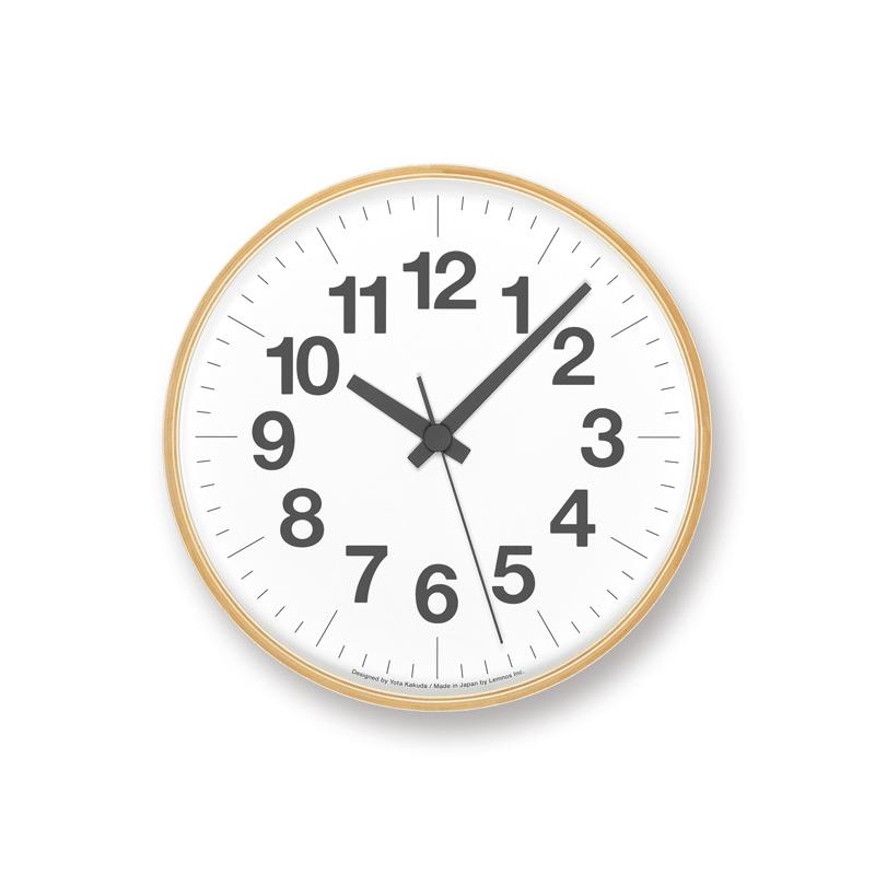 Lemnos ナンバーの時計 / PLY (YK18-18) [電波時計]掛け時計 時計 プライウッド ギフト 結婚祝い 新築祝い レムノス