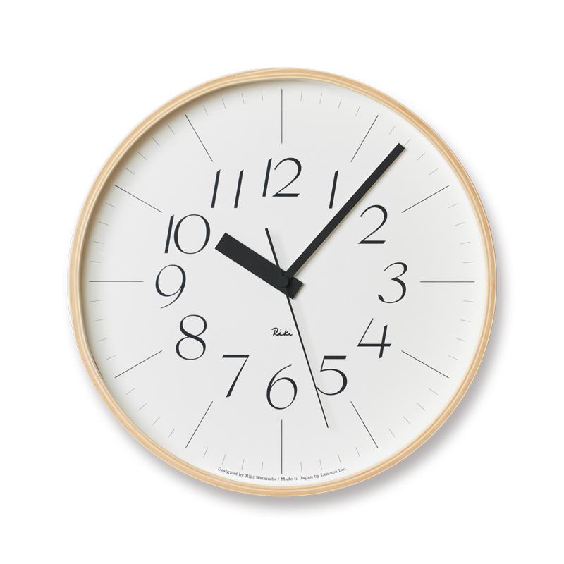 Lemnos RIKI CLOCK RC / ナチュラル (WR08-26)φ305[電波時計]掛け時計 時計 ギフト 新築祝い 渡辺力 レムノス