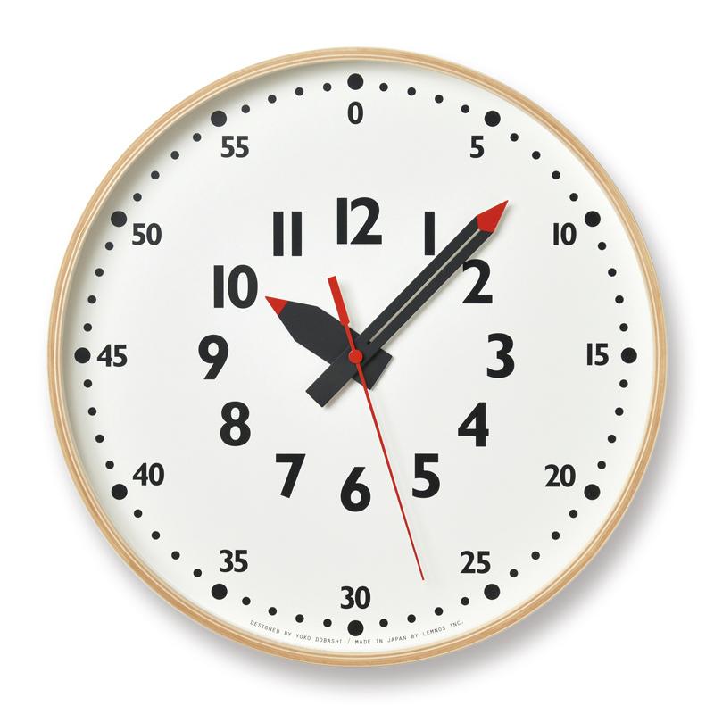 【最大2,000円OFFクーポン】Lemnos fun pun clock / Lサイズ(YD14-08 L)ふんぷんくろっく 掛け時計 時計 子供部屋 ギフト 入学祝い 出産祝い 新築祝い レムノス