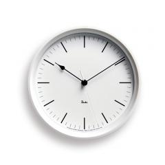 Lemnos RIKI STEEL  OCK[電波時計]/ ホワイト (WR08-24 WH) ギフト 新築祝い 渡辺力