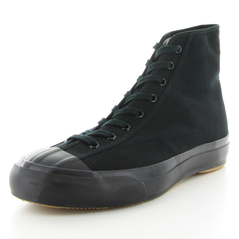 【MOONSTAR FINE VULCANIZED】GYMCLASSIC HI 27cm BLACKMONO/ブラックモノ スニーカー ハイカット 靴【ムーンスター ファインヴァルカナイズ】