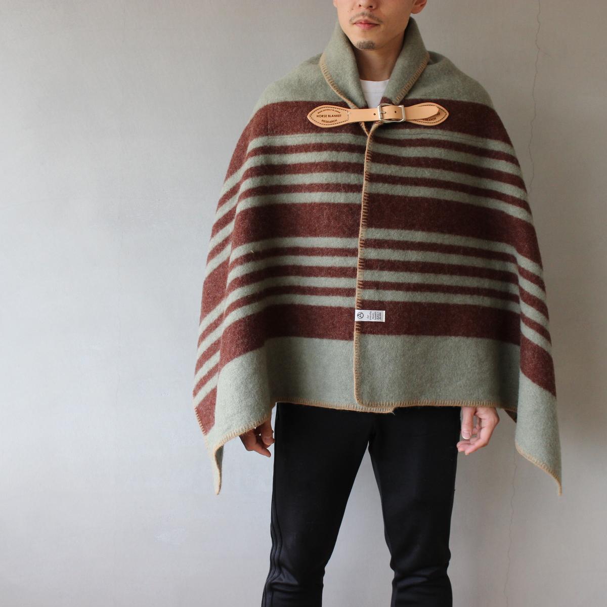 Horse Blanket 1/2 gray×wine【送料無料】【Horse Blanket Research】
