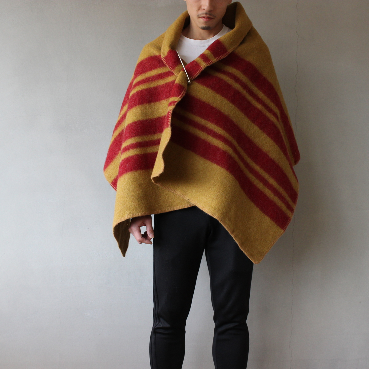Blanket 1/2 mustard×red【送料無料】【Horse Blanket Research】
