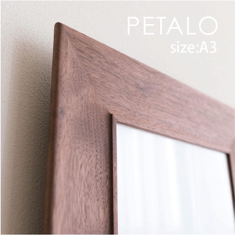 FRAME PETALO A3 木製 無垢 フレーム オーク ウォールナット ブラックチェリー 額 額縁 ポスター ポストカード