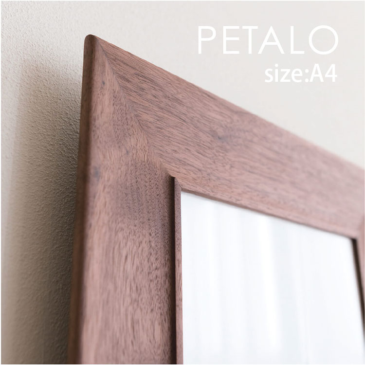 FRAME PETALO A4 木製 無垢 フレーム オーク ウォールナット ブラックチェリー 額 額縁 ポスター ポストカード