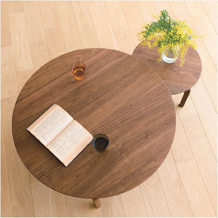 【伝統工芸株式会社】LISCIO Circle Low Table 084 テーブル ローテーブル 丸テーブル ちゃぶ台 卓袱台 木目 オーク ウォールナット チェリー STAYHOME