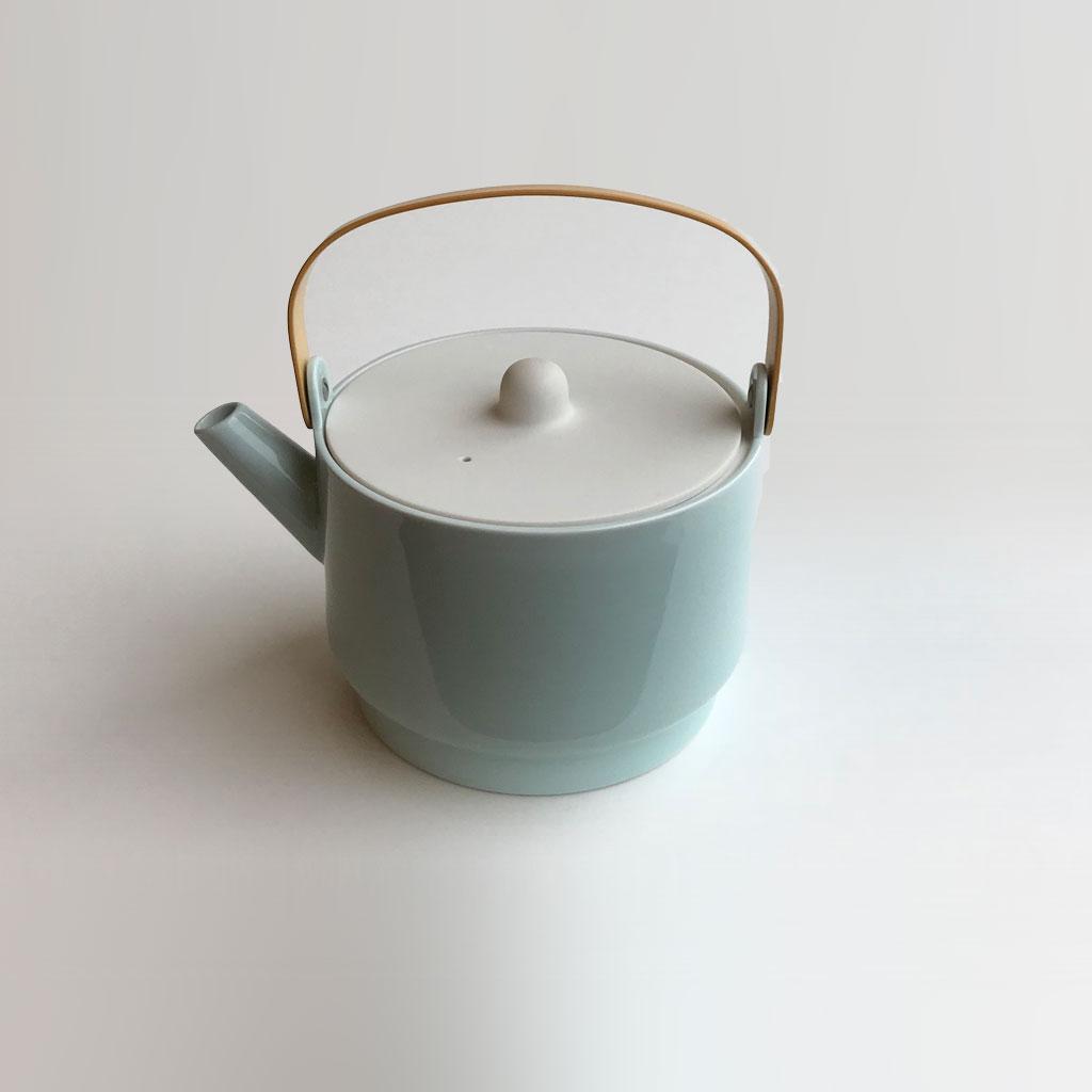 1616 arita japan S&B Tea Pot 青磁 有田焼 ハンドメイド アリタジャパン ポット△