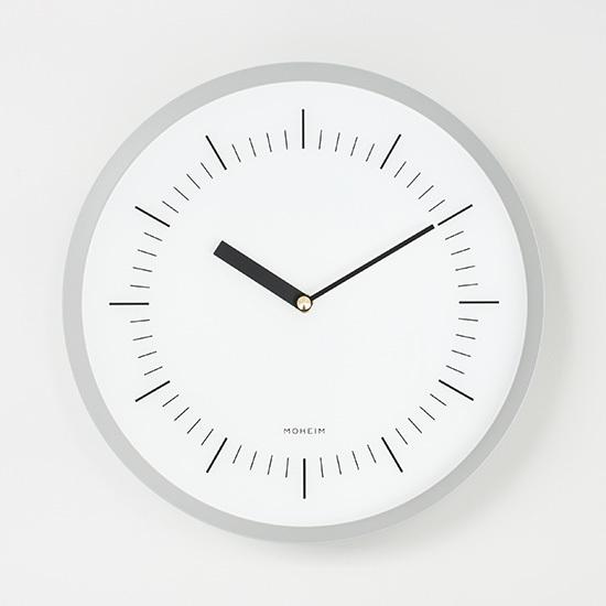 【最大2,000円OFFクーポン】HORN (GRAY) MOHEIM ホルン 時計 スチール 壁掛け時計 ウォールクロック