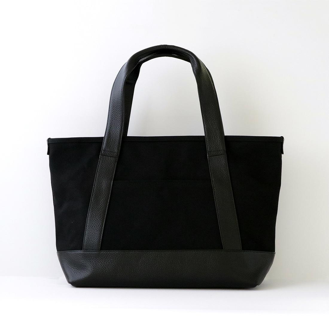 【最大2,000円OFFクーポン】【MOHEIM】 TOTE BAG (Mサイズ / ブラック) トートバッグ カバン 鞄 バッグ 手提げ 帆布 ユニセックス