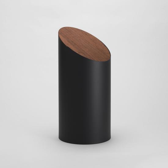 SWING BIN (ブラック/ウォールナット) MOHEIM ゴミ箱 ダストボックス ふた付きゴミ箱