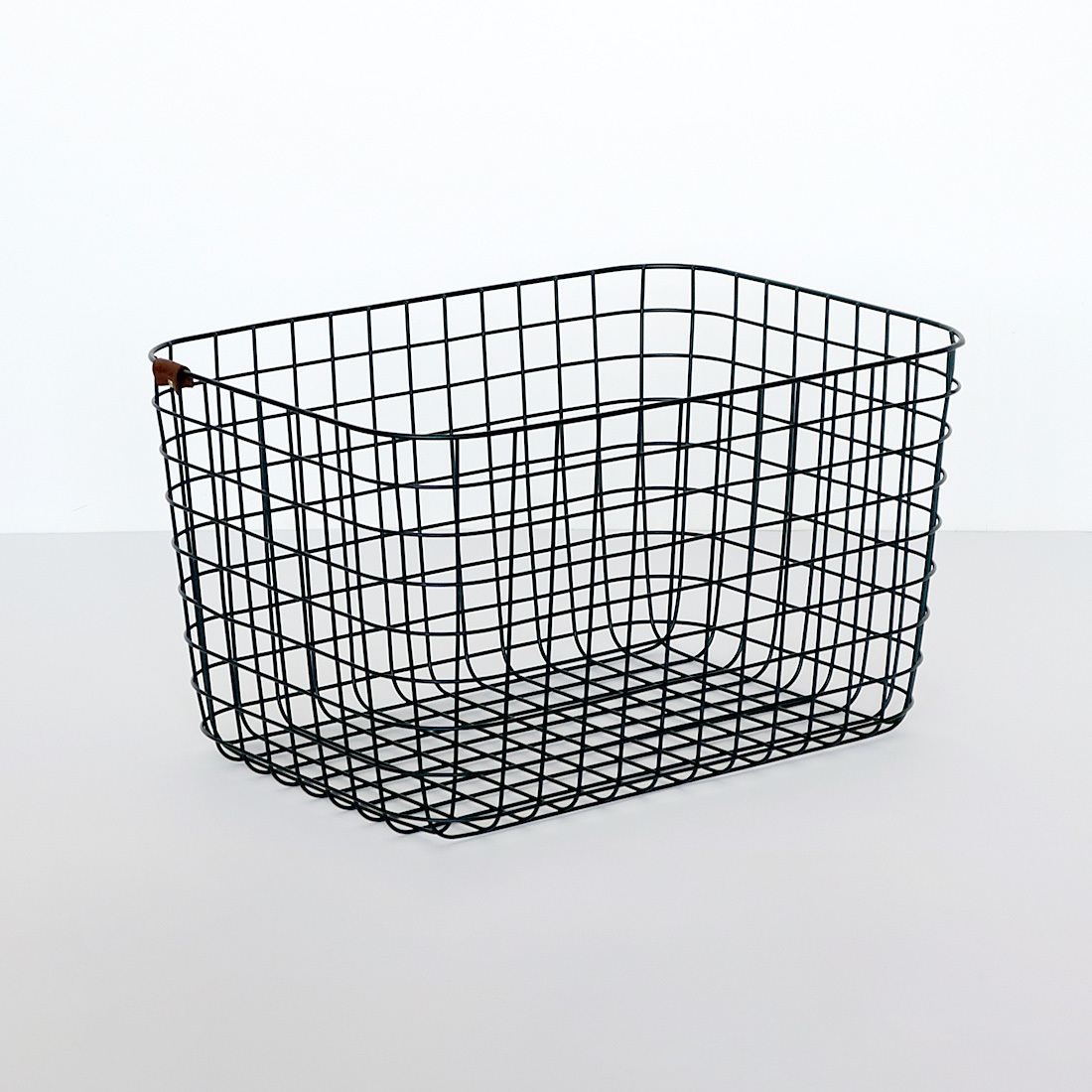 【MOHEIM】 WIRE BASKET (L / black) ブラック ワイヤーバスケット 収納 カゴ インテリア