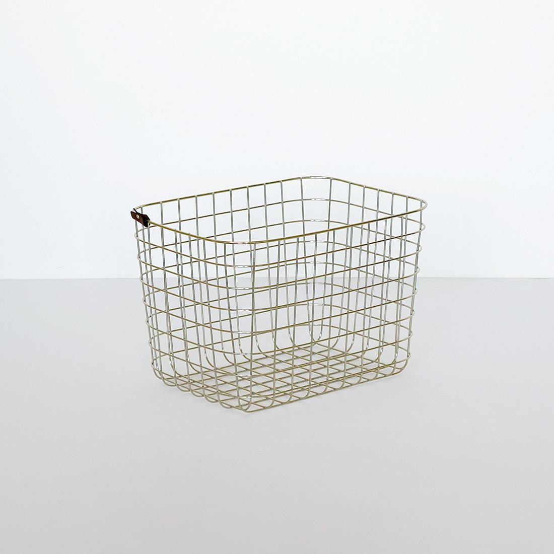 【MOHEIM】 WIRE BASKET (M / gold) ゴールド ワイヤーバスケット 収納 カゴ インテリア