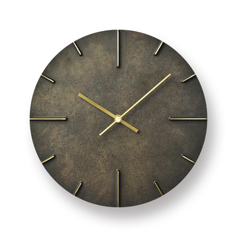 モメンタムファクトリー・OriiLemnos Quaint 斑紋黒染色 クエィント レムノス 時計 掛け時計 壁時計 高岡銅器 ギフト プレゼント 贈り物