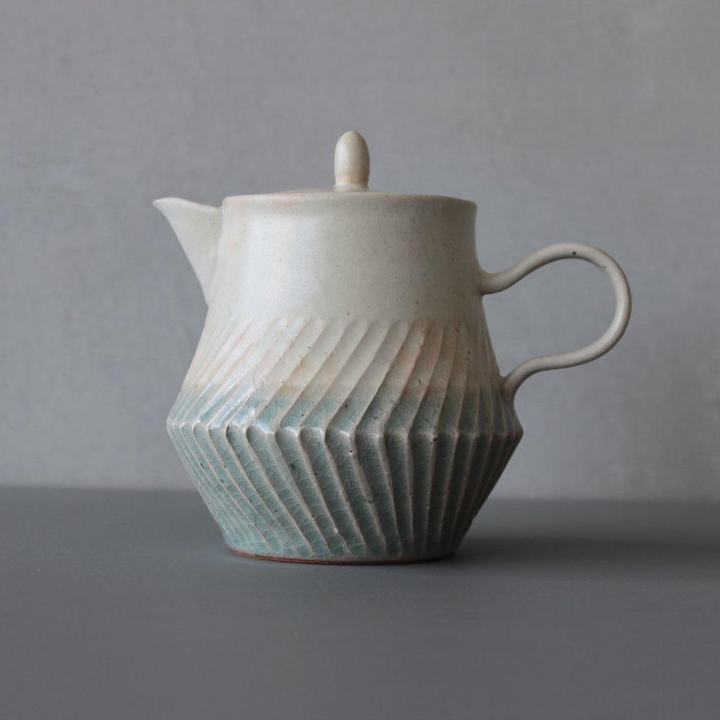 【お1人様1点限り】 MISHIM POTTERY CREATION soak teapotカラー sora+shinoティーポット ソーク ミシン 陶器 お茶 常滑焼, igarden 6efea7b5