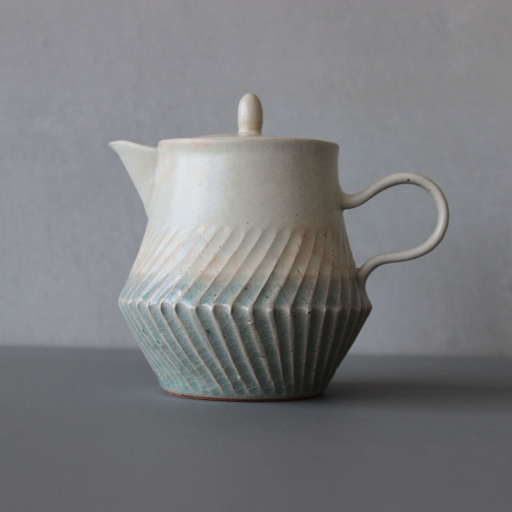 MISHIM POTTERY CREATION soak teapotカラー / sora+shinoティーポット ソーク ミシン 陶器 お茶 常滑焼☆