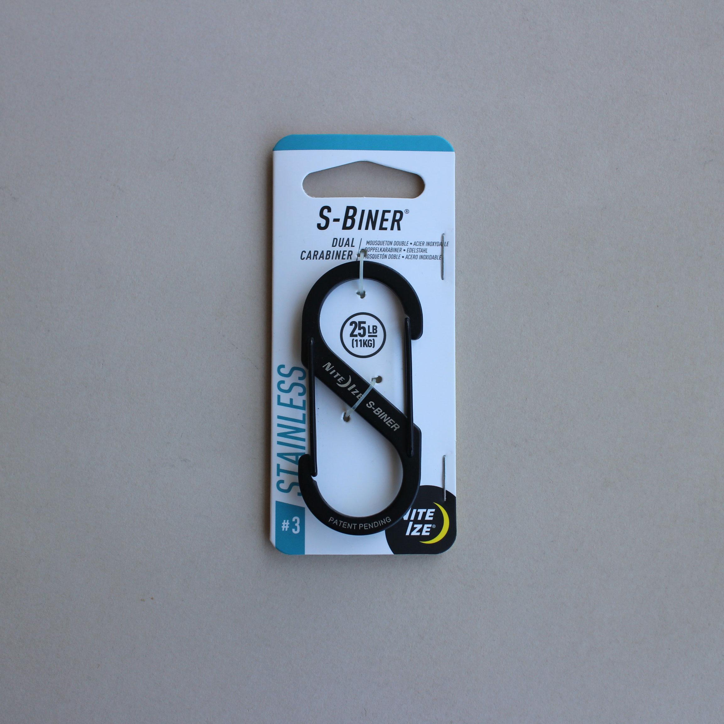 S字型カラビナです ベルトフックやリュック カバンなどに取り付けて必要なものをぶら下げたり 好評受付中 キーホルダーにしたり NITEIZE S-BINER Dual ナイトアイズ エスビナー カラビナ ブラック #3 キーホルダー Carabiner 割引