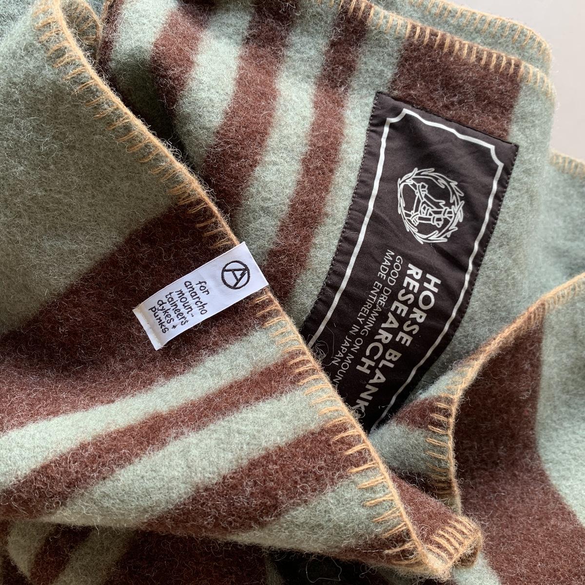 【最大2,000円OFFクーポン】Blanket 1/2 GREY×WINE【Horse Blanket Research】ホースブランケット ブランケット ウール