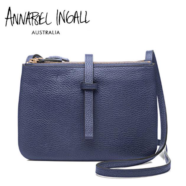 ≪Annabel Ingall≫ アナベル・インガル本革レザー ネイビー 取り外し可能 2WAY アイコンバッグ ショルダーバッグ JOJO Lether Bag (Midnight)【レディース】